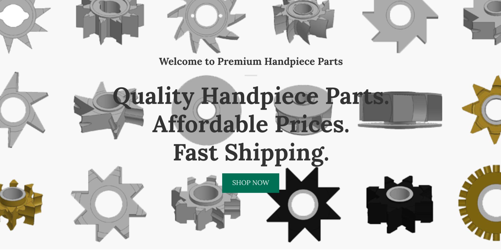 Premium Handpiece Parts Home Page Slider to shop for dental handpiece parts for dental handpiece repair
